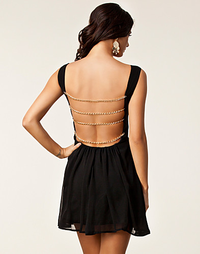 FESTKJOLER - RARE LONDON / CHAIN STRAP BACK DRESS - NELLY.COM