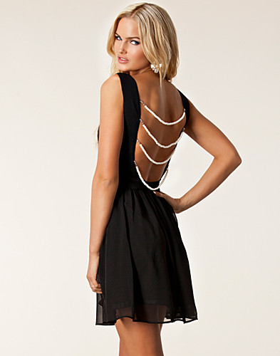 PARTY DRESSES - RARE LONDON / PEARL BACK SKATER DRESS - NELLY.COM