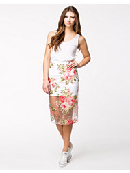 Rare London Floral Organza Midi Skirt
