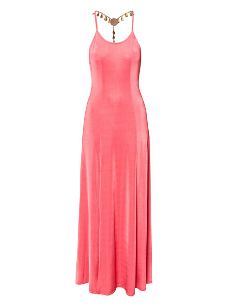 Jewel Chain Back Split Maxi Dress Nelly Exclusive