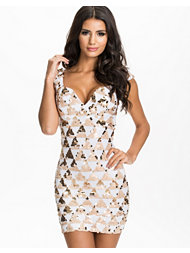 Rare London Triangle Sequin Sweetheart Bodycon