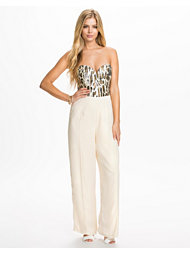 Rare London Animal Sequin Sweetheart Tailored Jumpsuit
