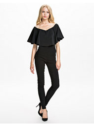 Rare London Off The Shoulder Frill Jumpsuit