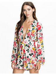 Rare London Floral Plunge Playsuit
