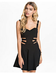 Rare London Cage Cut Out Skater Dress