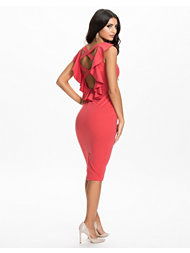 Rare London Cut Out Back Detail Midi Dress