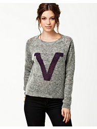 Vila Baseball Knit Top