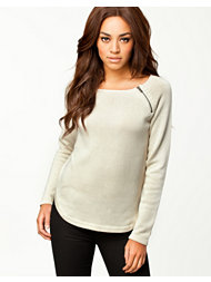 Vila Mara Zip Knit Top