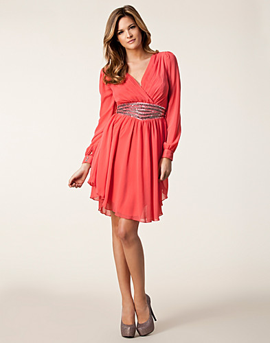 PARTY DRESSES - LITTLE MISTRESS / CHIFFON SLEEVE TRIM DRESS - NELLY.COM