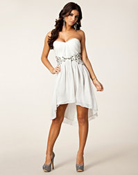 Little Mistress - Pleat Waist Trim Dress