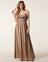 SEQUIN BUST MAXI DRESS