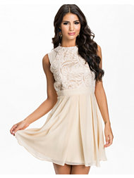 Little Mistress Floral Lace Race Front Fit&Flare Dress
