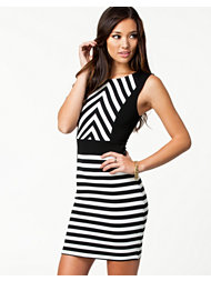 Bebe Striped Contrast Dress