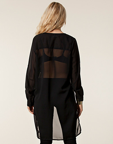 BLOUSES & SHIRTS - RUT&CIRCLE / JANICA BACK LONG BLOUSE - NELLY.COM