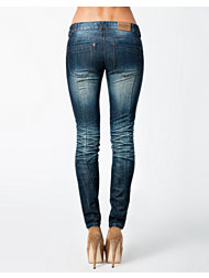 Sally&Circle Loose Button Jeans
