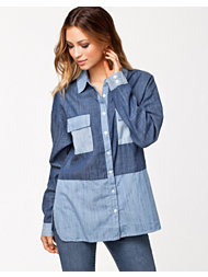 Rut&Circle Angelina Patch Denim Shirt