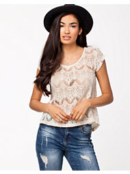 Sally&Circle Geela Lace Zip Top