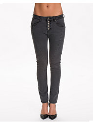 Rut&Circle Button Black Jeans