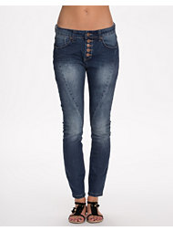 Rut&Circle Button Md Wash Jeans