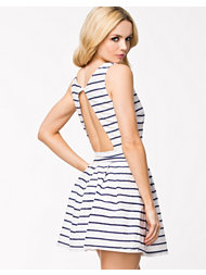 Sally&Circle Stripe Back Open Dress