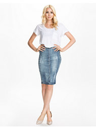 Rut&Circle Sofia Ripped Denim Skirt