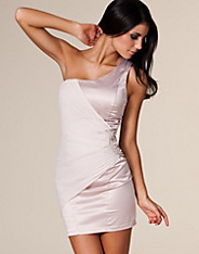 Elise Ryan - One Shoulder Satin Dress