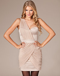 Elise Ryan - Satin Chiffon Dress