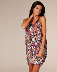 Elise Ryan - Draped Leopard Dress