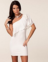 PONTI BODYCON CHIFFON CAPE DRESS
