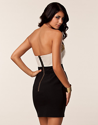 PARTY DRESSES - ELISE RYAN / TULIP BUSTIER TRIM DRESS - NELLY.COM