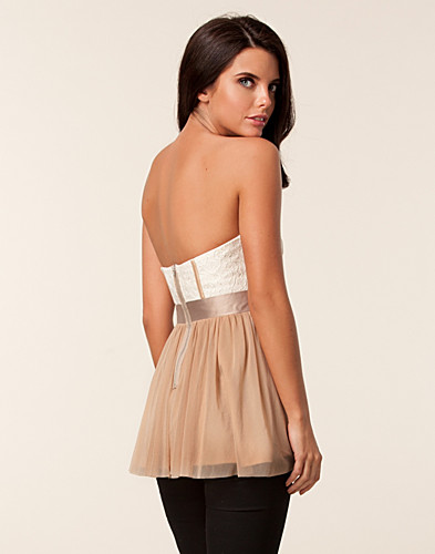 TOPPAR - ELISE RYAN / MESH LACE BUSTIER TOP - NELLY.COM