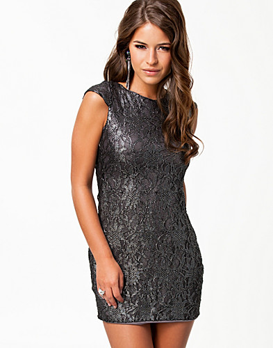 FESTKLÄNNINGAR - ELISE RYAN / LUREX LACE OPEN DRESS - NELLY.COM