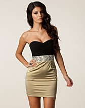 BANDEAU TRIM PENCIL DRESS