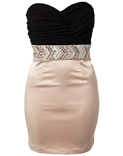 FESTKLÄNNINGAR - ELISE RYAN / BANDEAU TRIM PENCIL DRESS - NELLY.COM