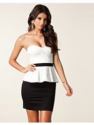 Elise Ryan Bandeau Peplum Dress