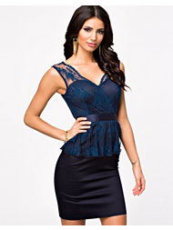 Elise Ryan Lace Peplum Dress