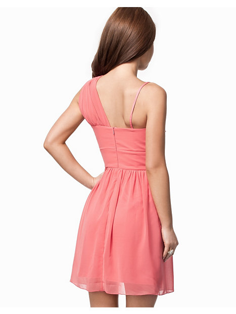 One Shoulder Embellished Waist Dress