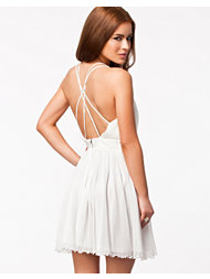 Elise Ryan Strap Back Chiffon Dress