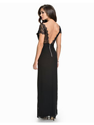 Elise Ryan Lace V Back Maxi Dress