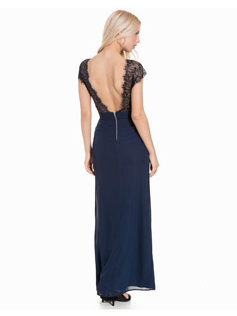 Lace V Back Maxi Dress