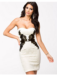 Elise Ryan Lace Side Bodycon Dress