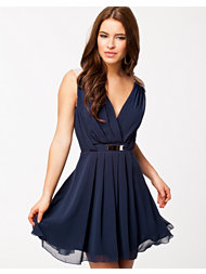 Elise Ryan Cross Front Chiffon Dress