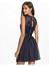 Elise Ryan Lace Top Chiffon Dress