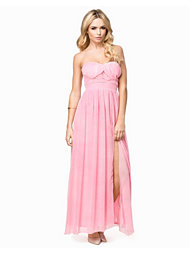 Elise Ryan Maxi Strapless Chiffon Dress