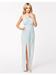 Elise Ryan Pearl Embelished Maxi Dress