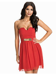Elise Ryan Gold Plate Bandeau Dress