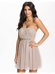 Elise Ryan Lace Embellished Waist Dress