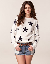 Only - Stars Long Sleeve Pullover