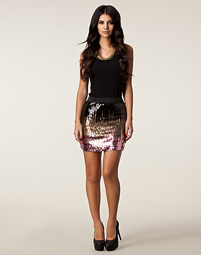 KJOLAR - ONLY / DIGITAL SEQUINS SKIRT - NELLY.COM