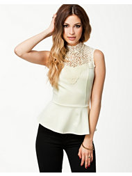 Only Adelle Peplum Lace Top